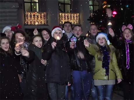 Привітання студентського самоврядування з Новим 2015 роком (29.12.2014)