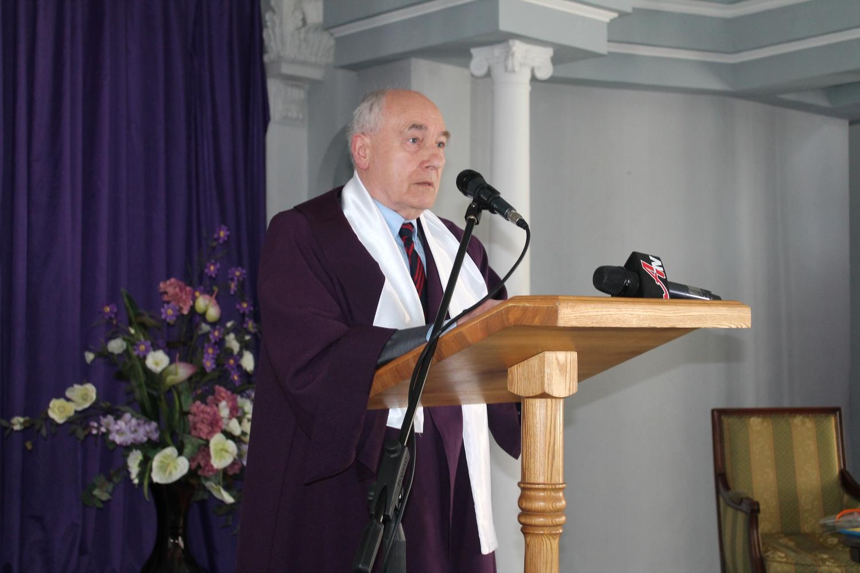 Вручение диплома и мантии почетного доктора Сумского государственного университета профессору Йозефу Хабер