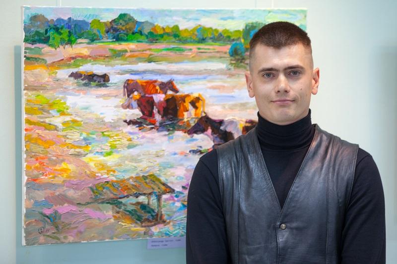 У СумДУ відбувся вернісаж виставки «Тихе небо» Олександра Заступа